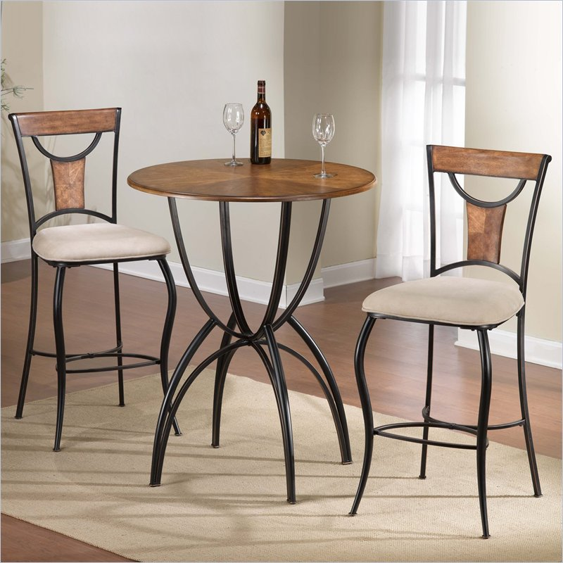 colorful kitchen table sets hillsdale pacifico 3 bar height bistro set in black 5574