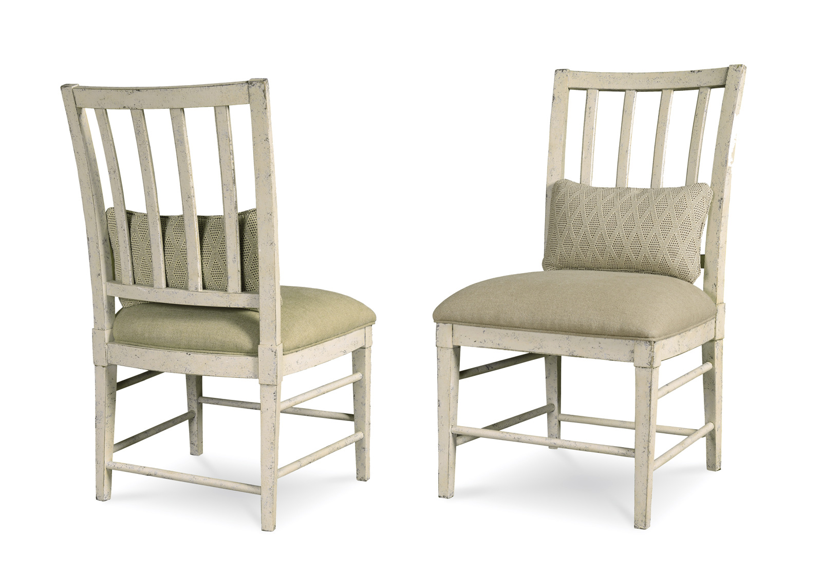 A R T Furniture Echo Park Slat Back Side Chair Set Of 2 In Antique White 212202 2617 By Dining