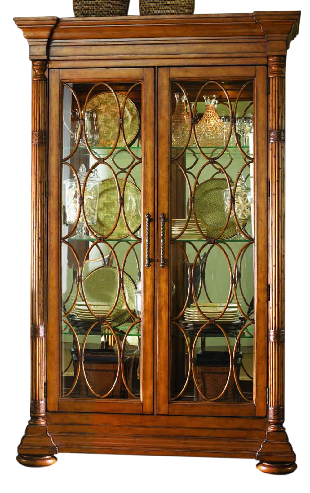 Tommy Bahama Island Estate Mariana Display Cabinet Ends