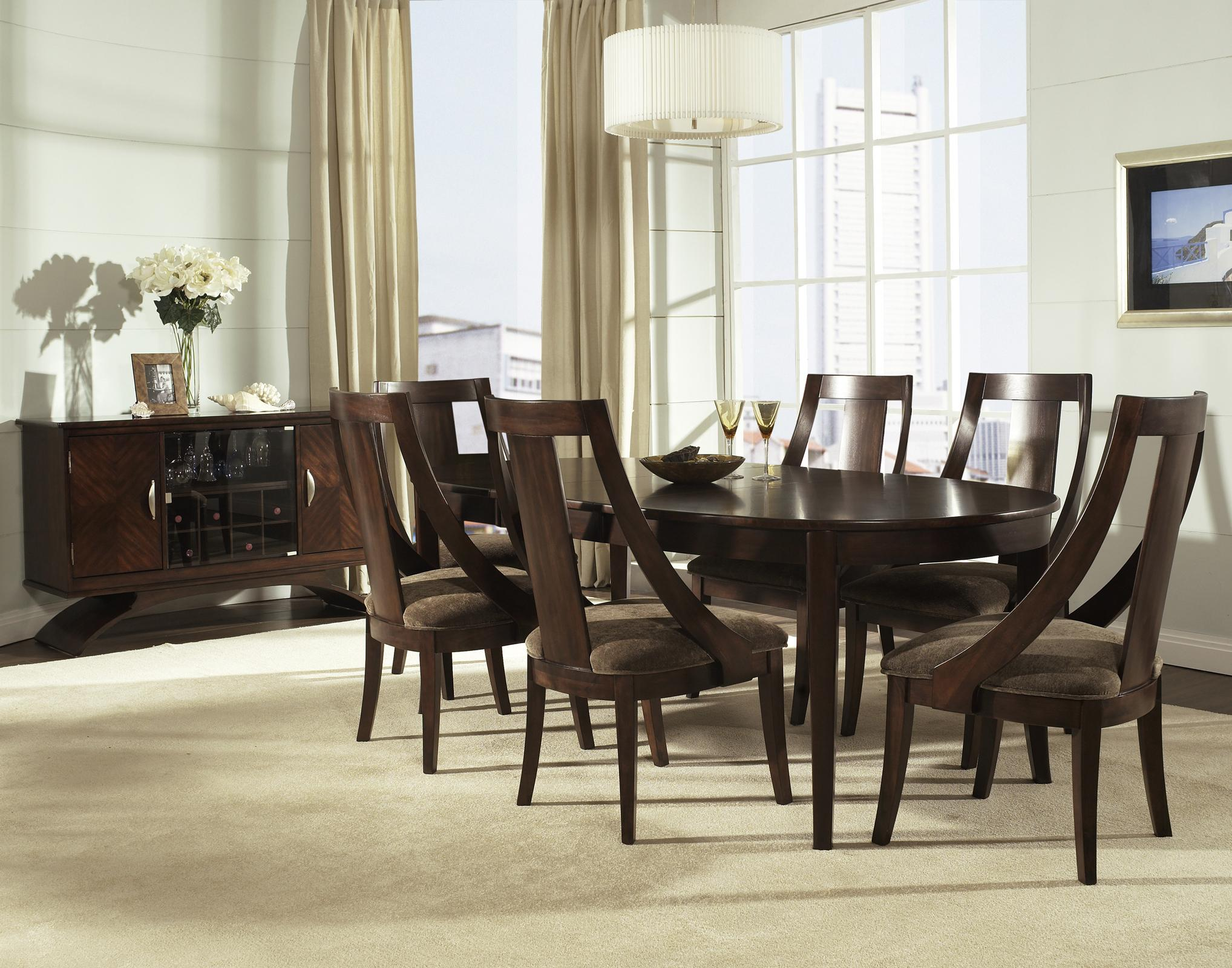Somerton Cirque 7 Piece Oval Dining Set in Merlot by Dining Rooms