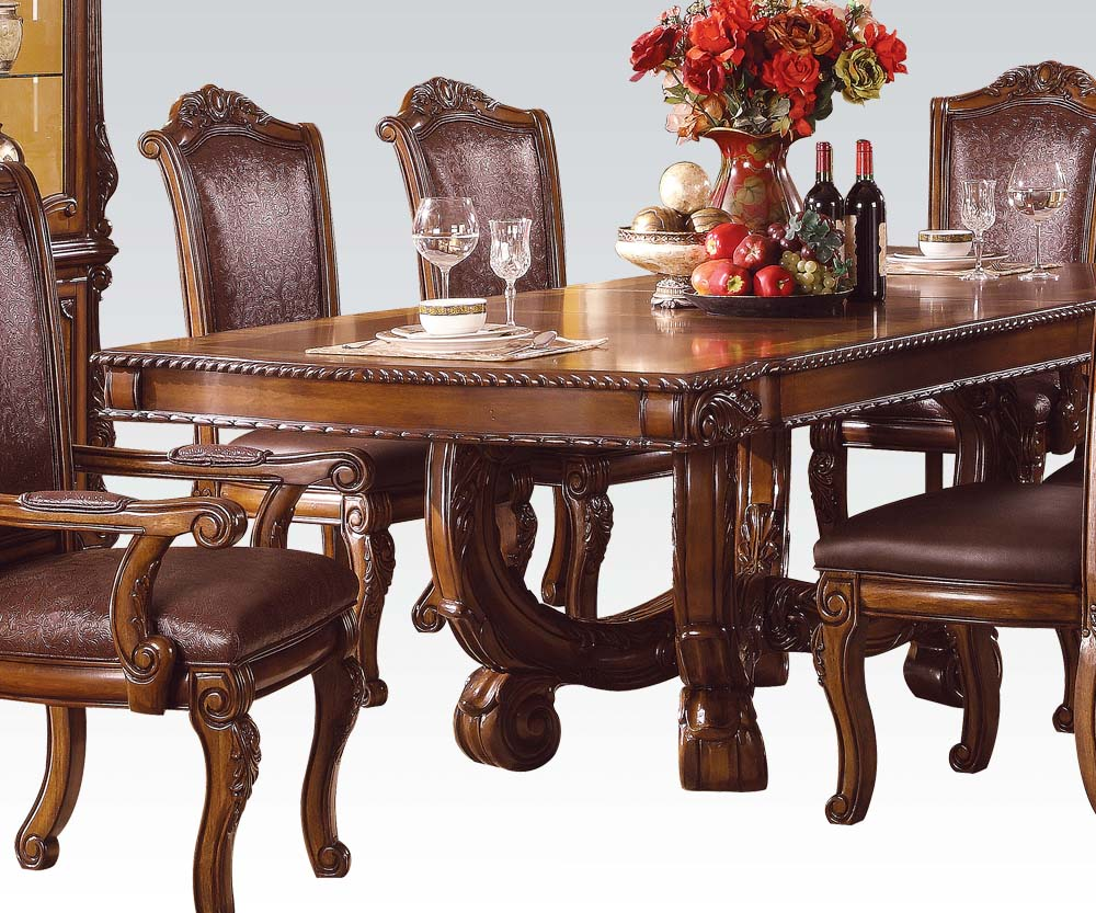 Acme Agate Dining Table In Cherry 60050 By Dining Rooms Outlet