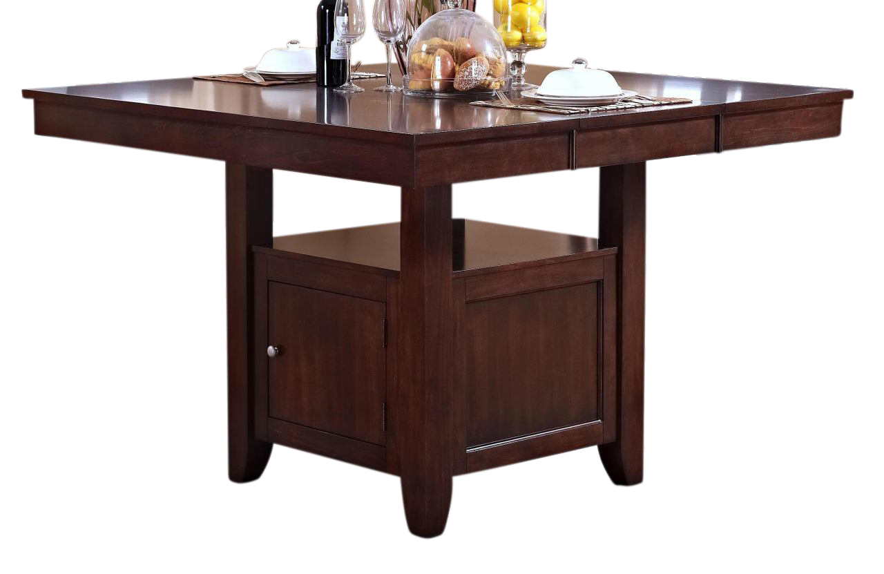 New Classic Furniture Kaylee Counter Table In Tudor Brown