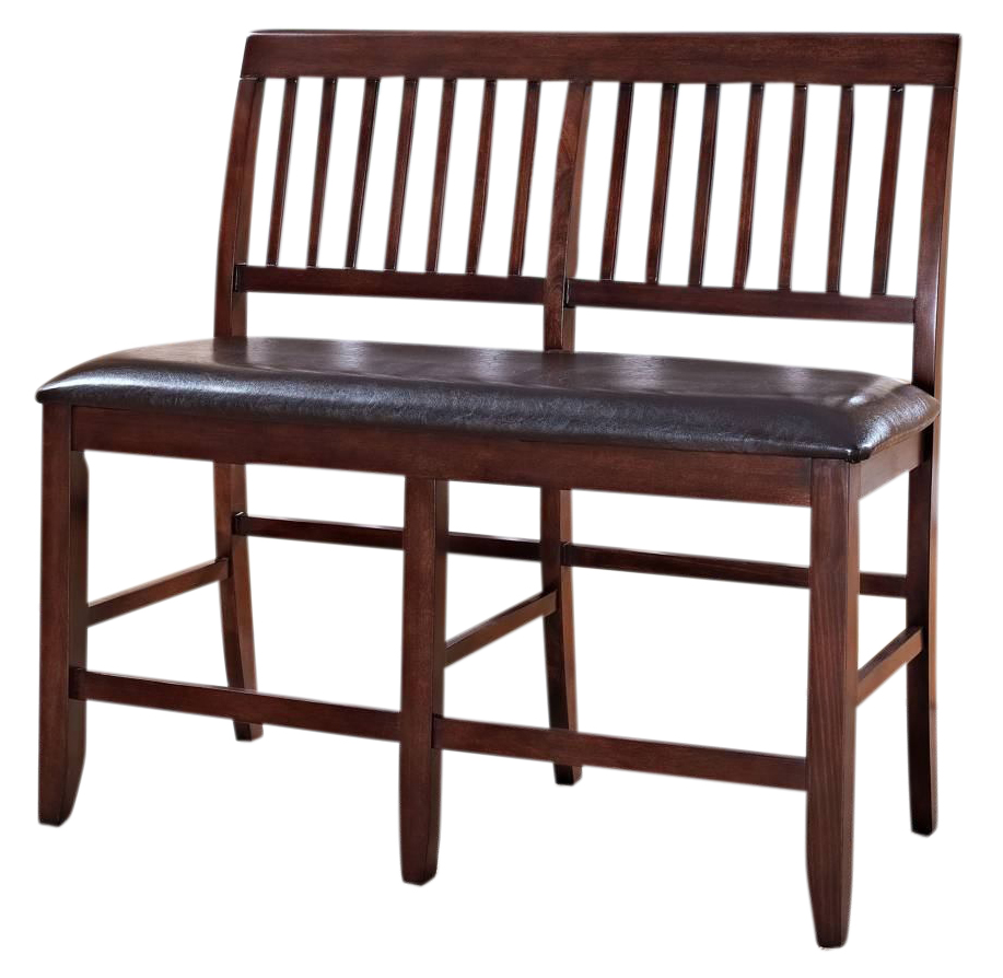 New Classic Furniture Kaylee Counter Bench In Tudor Brown