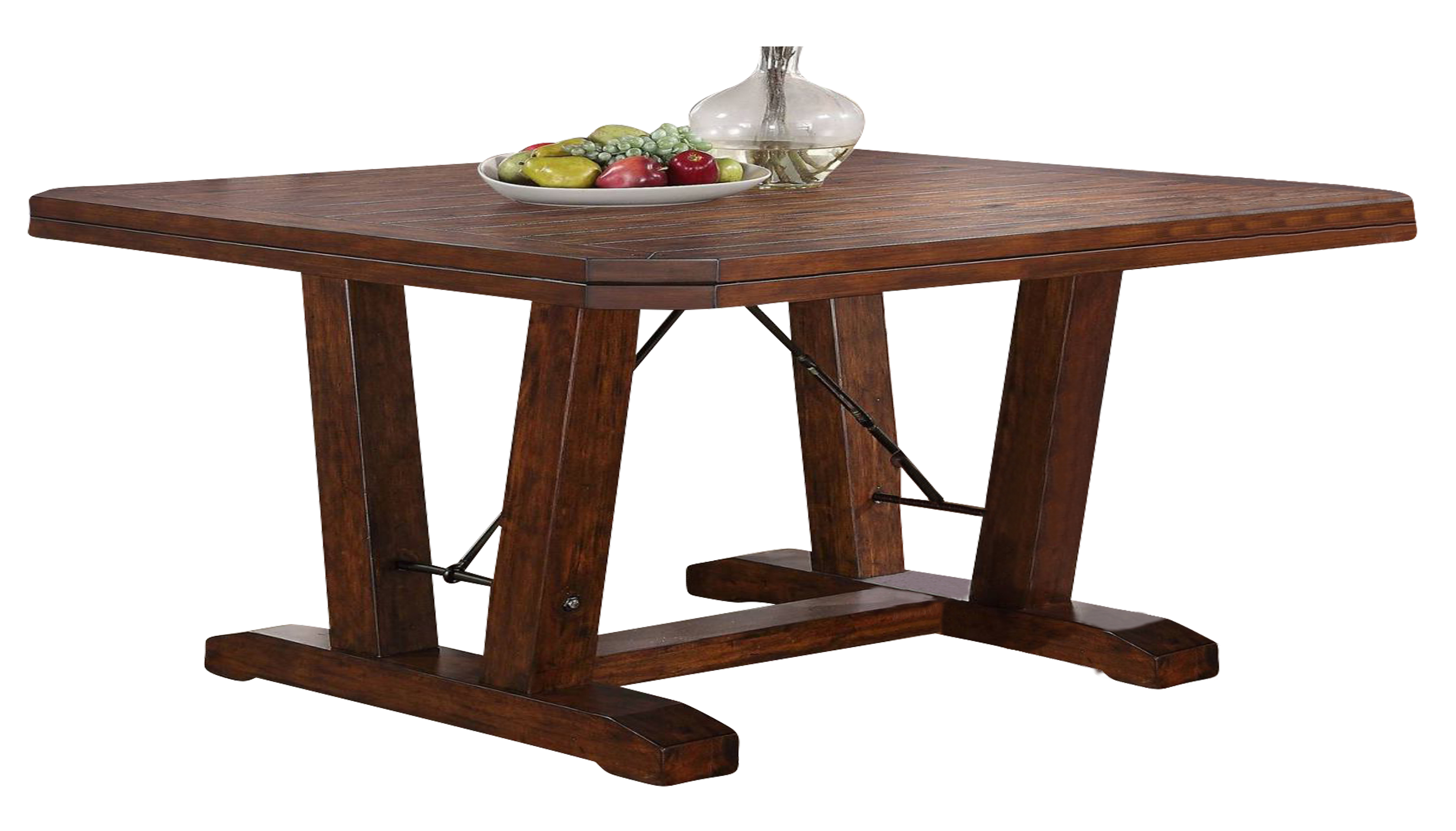 New Classic Furniture Lanesboro Dining Table In Distressed