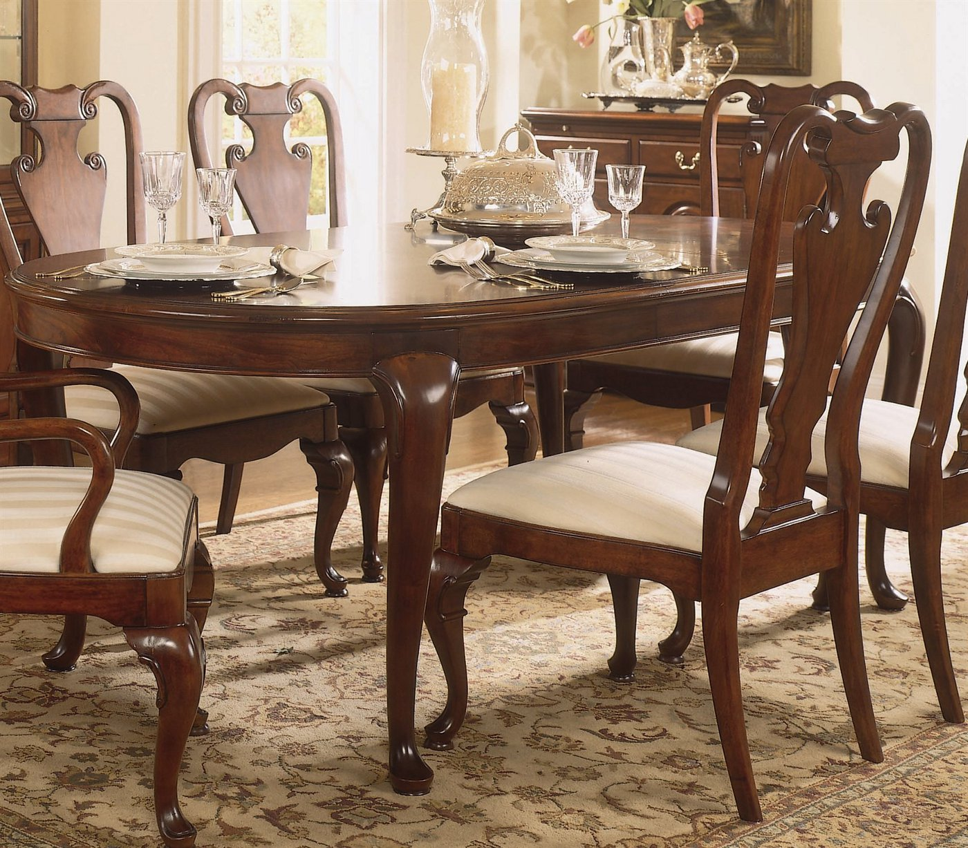 Furniture Dining Room Furniture Extension Dining Table Cherry