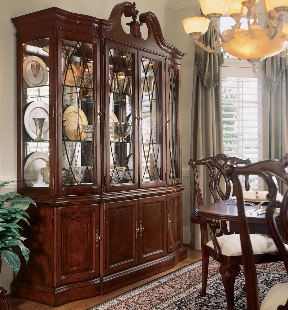 American Drew Cherry Grove Breakfront China Cabinet By