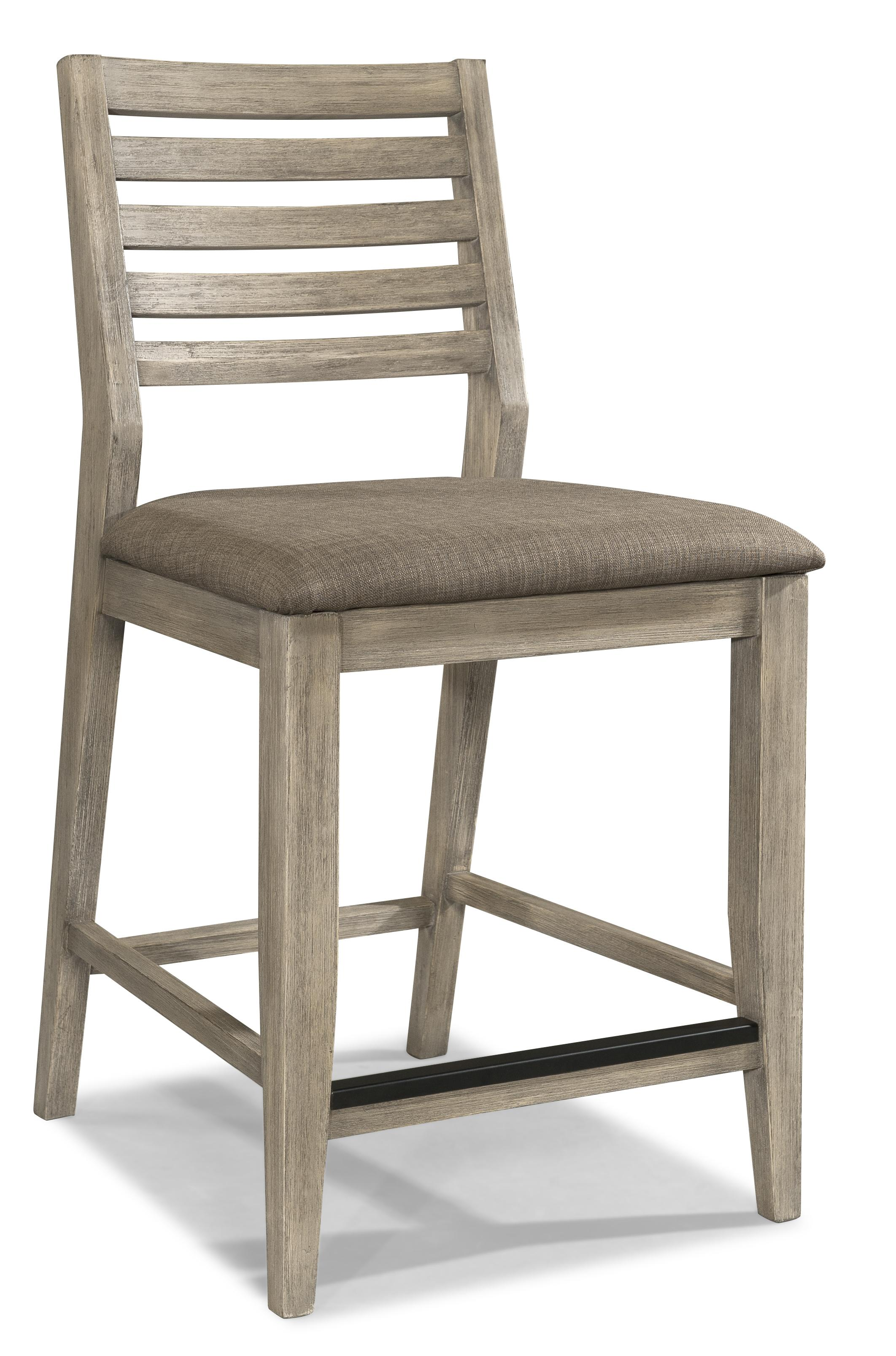 cresent fine furniture corliss landing counter stool in weathered driftwood grey set of 2 clearance by dining rooms outlet
