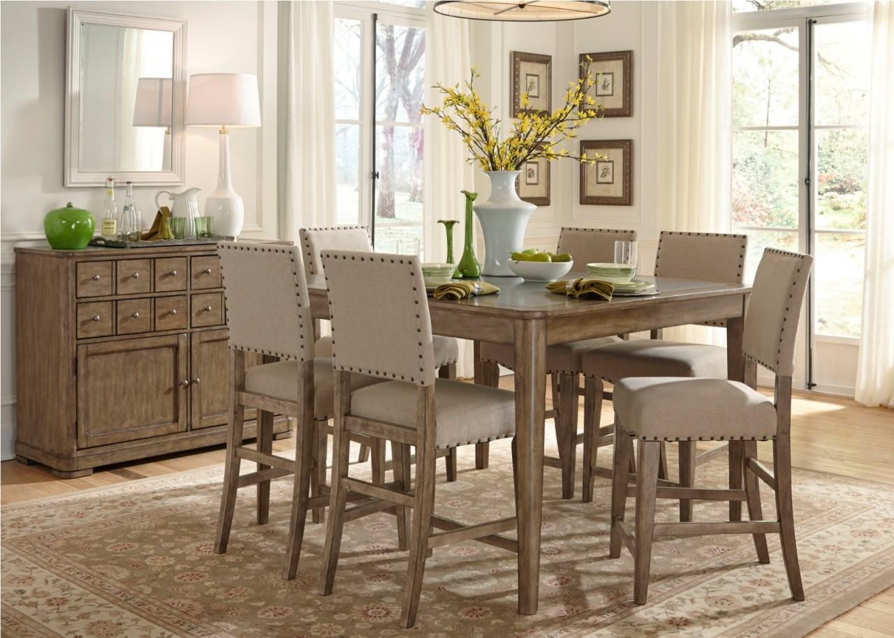gathering table dining set in weathered gray by dining rooms outlet
