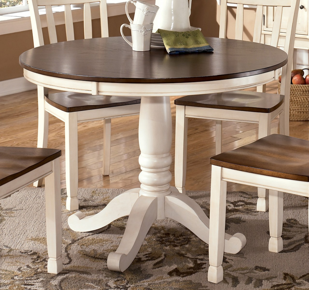 White round dining table set home design and decor reviews for Breakfast table and chairs