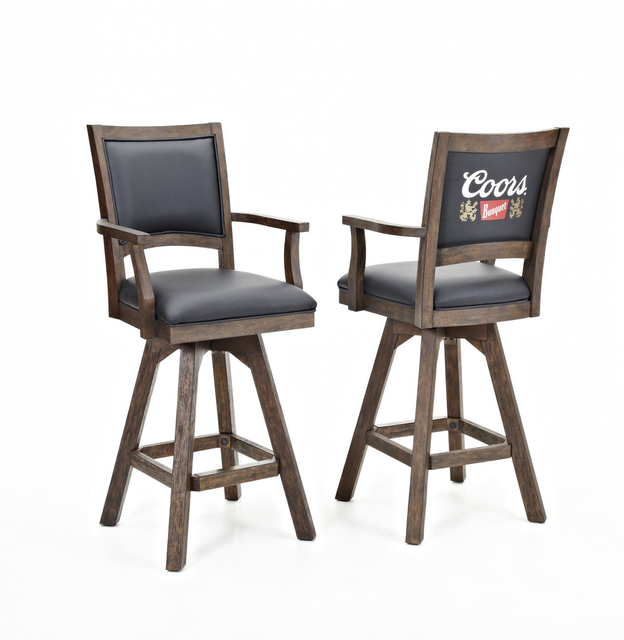 ECI Furniture Coors Banquet Barstool with Arm in Antique Walnut (Set of 2)