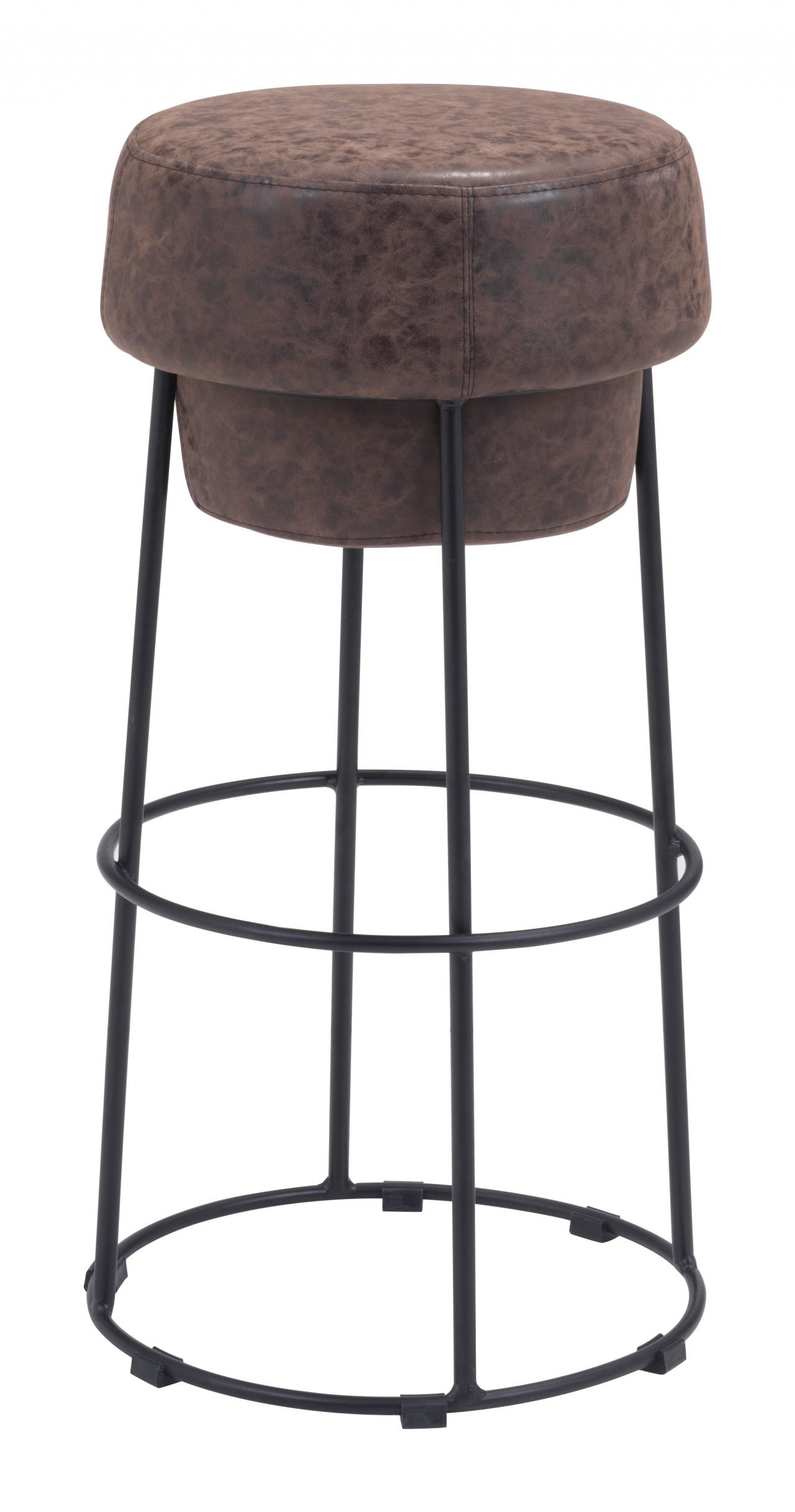 Zuo Modern Pop Barstool in Natural & Distressed 100196