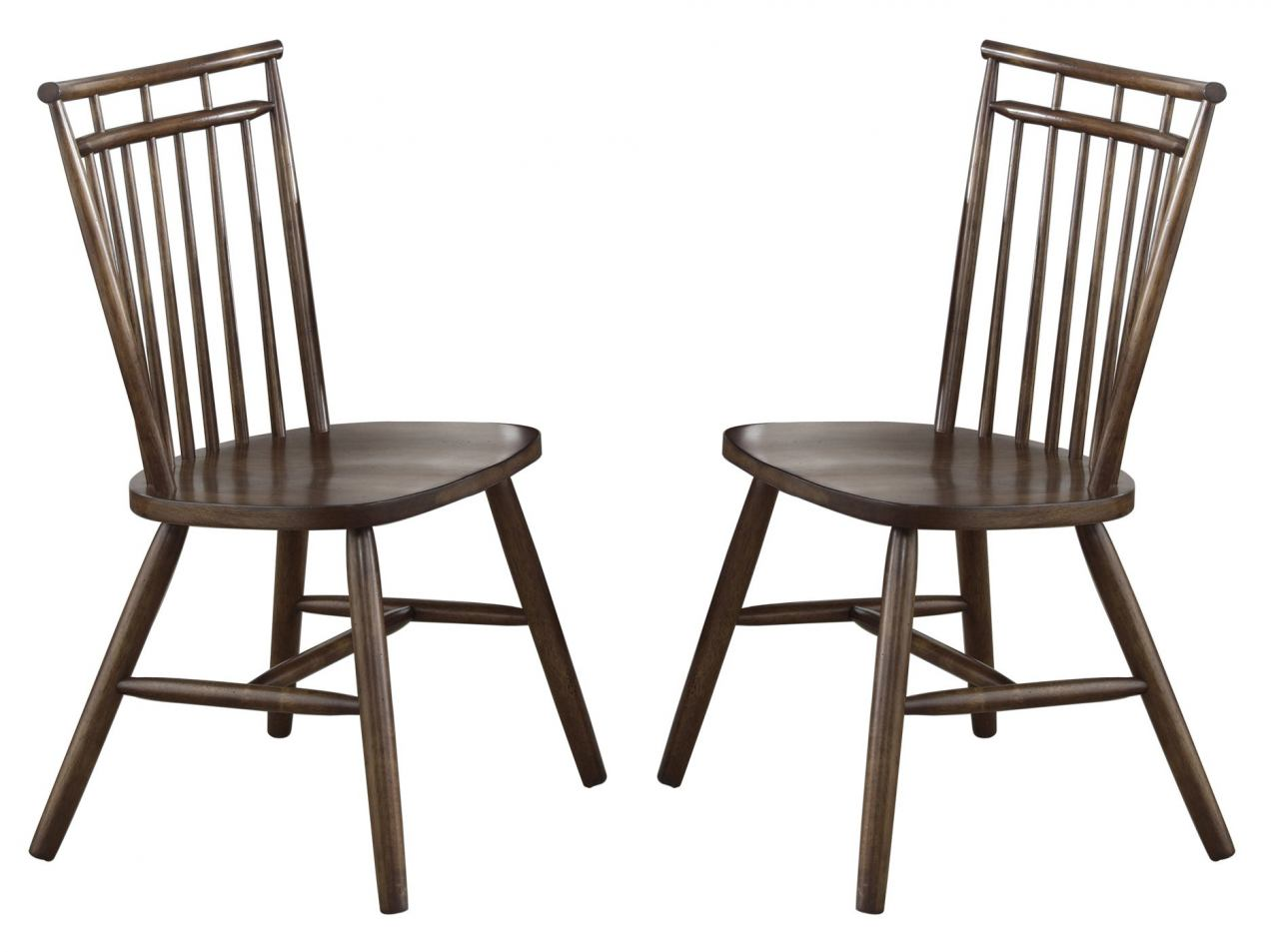 Liberty Furniture Creations II Spindle Back Side Chair in Tobacco Finish 38-C4000S (Set of 2)