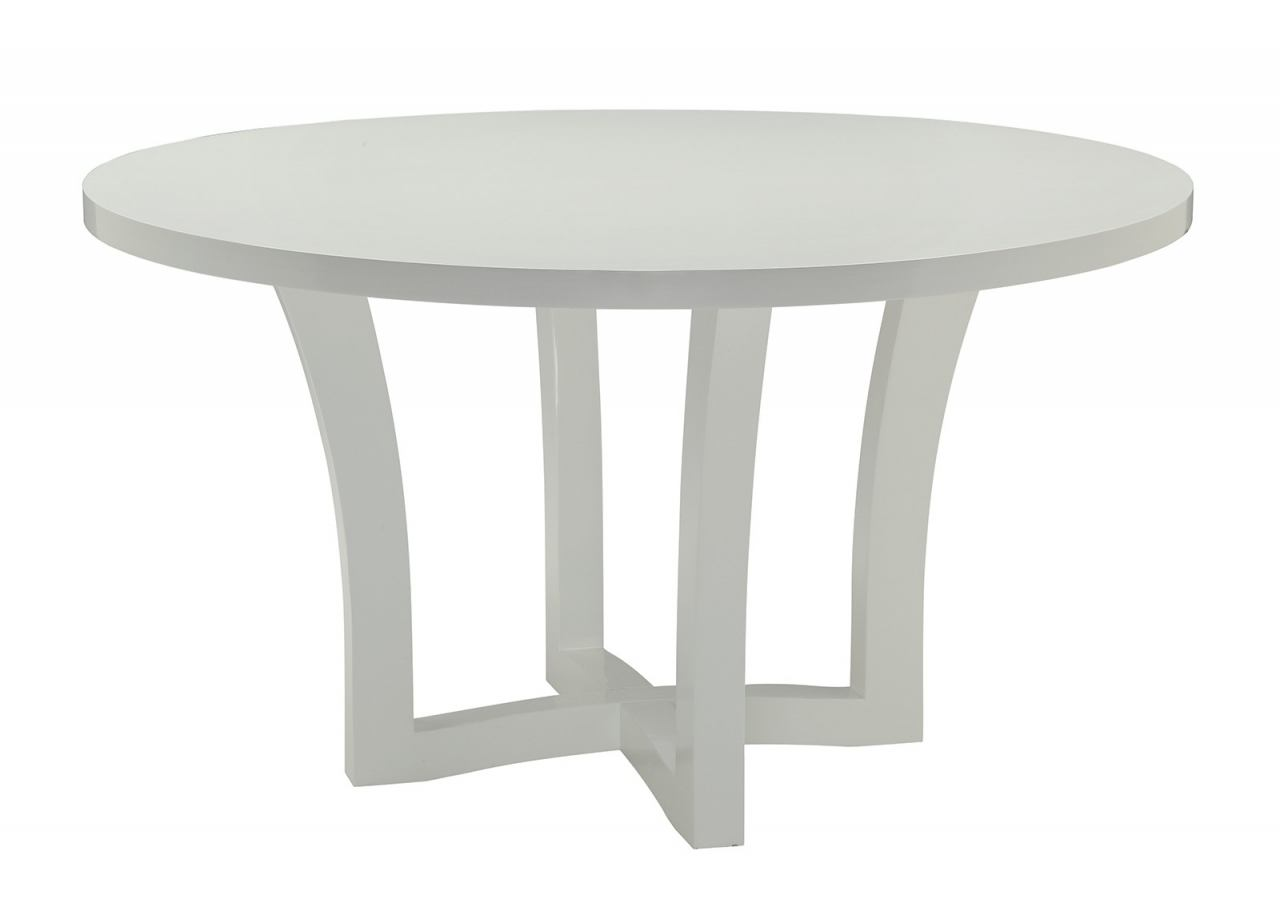 Coaster Donny Osmond Home Caprice Round Dining Table in White 180231