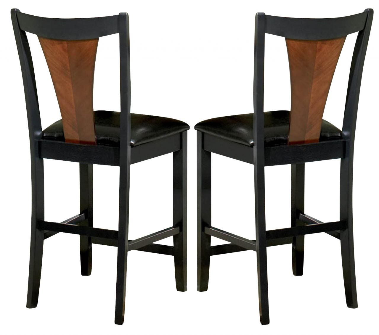 Coaster Boyer Counter Height Stool in Black & Cherry (Set of 2) 102099