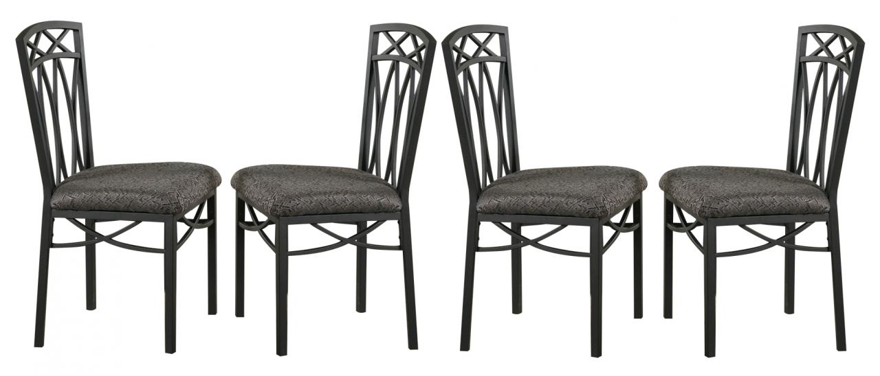 Coaster Dining Chair in Black (Set of 4) 120782