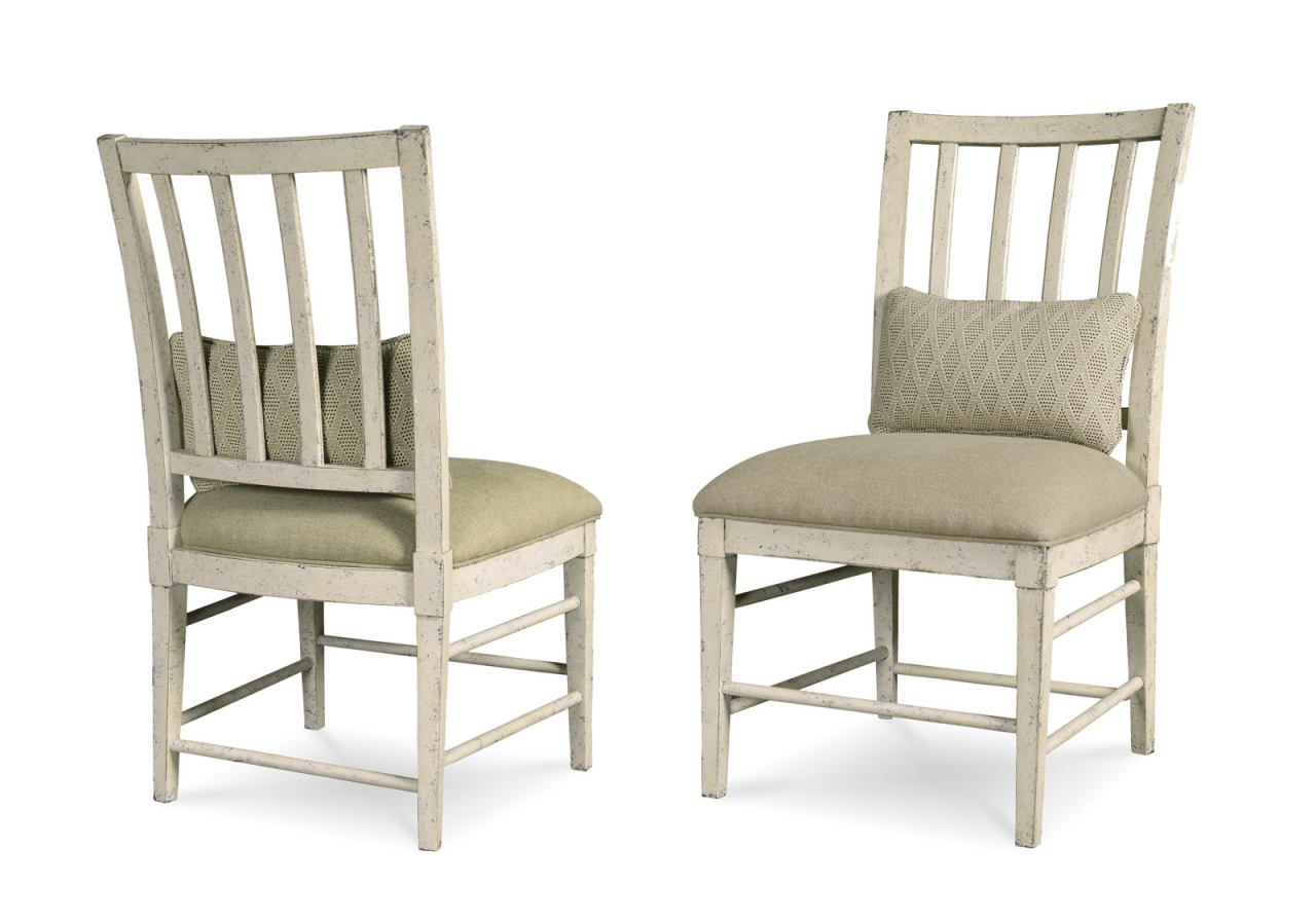 A.R.T Furniture Echo Park Slat-Back Side Chair (Set of 2) in Antique White 212202-2617