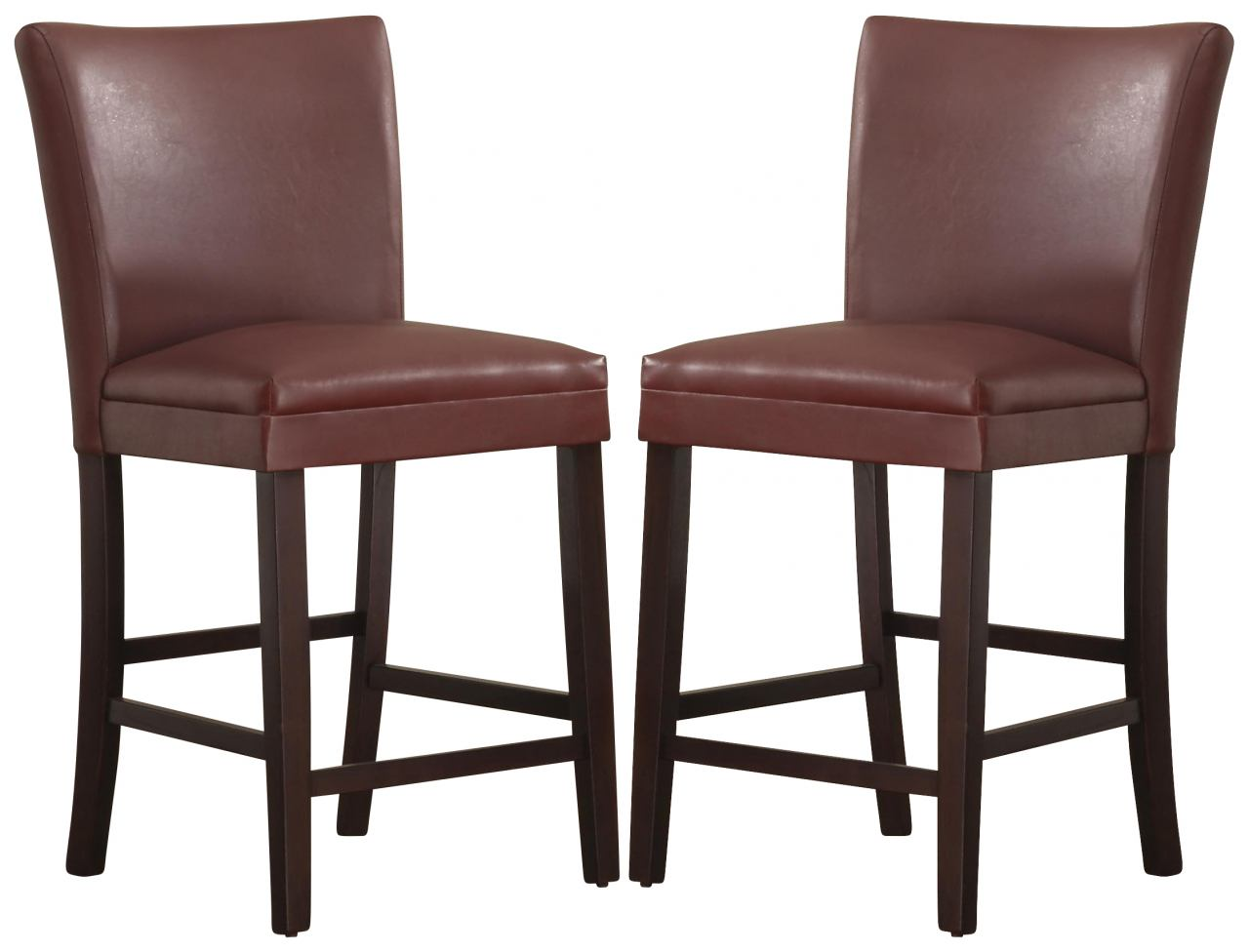 Homelegance Belvedere Counter Height Chair in Lava Red (set of 2) 3276R-24