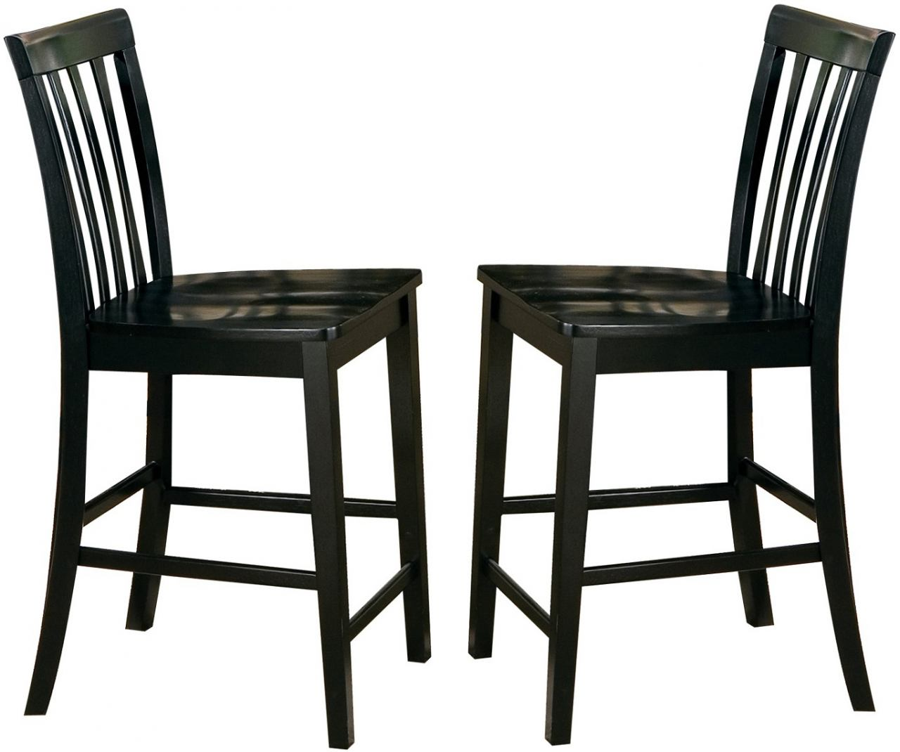 Coaster Pines Counter Height Stool in Black (Set of 2) 101039BLK