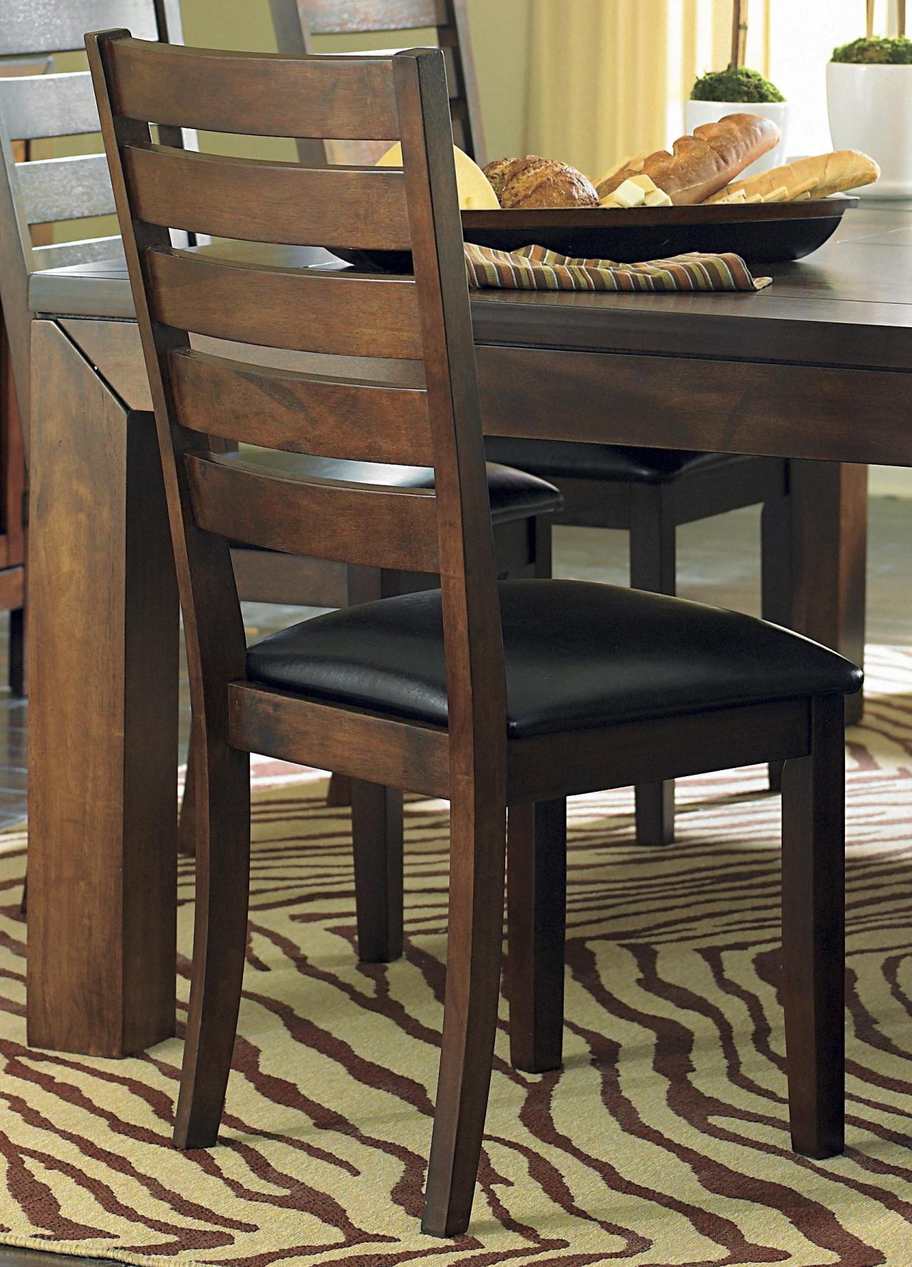 Homelegance Eagleville Side Chair in Warm Brown Cherry (set of 2) 5346S