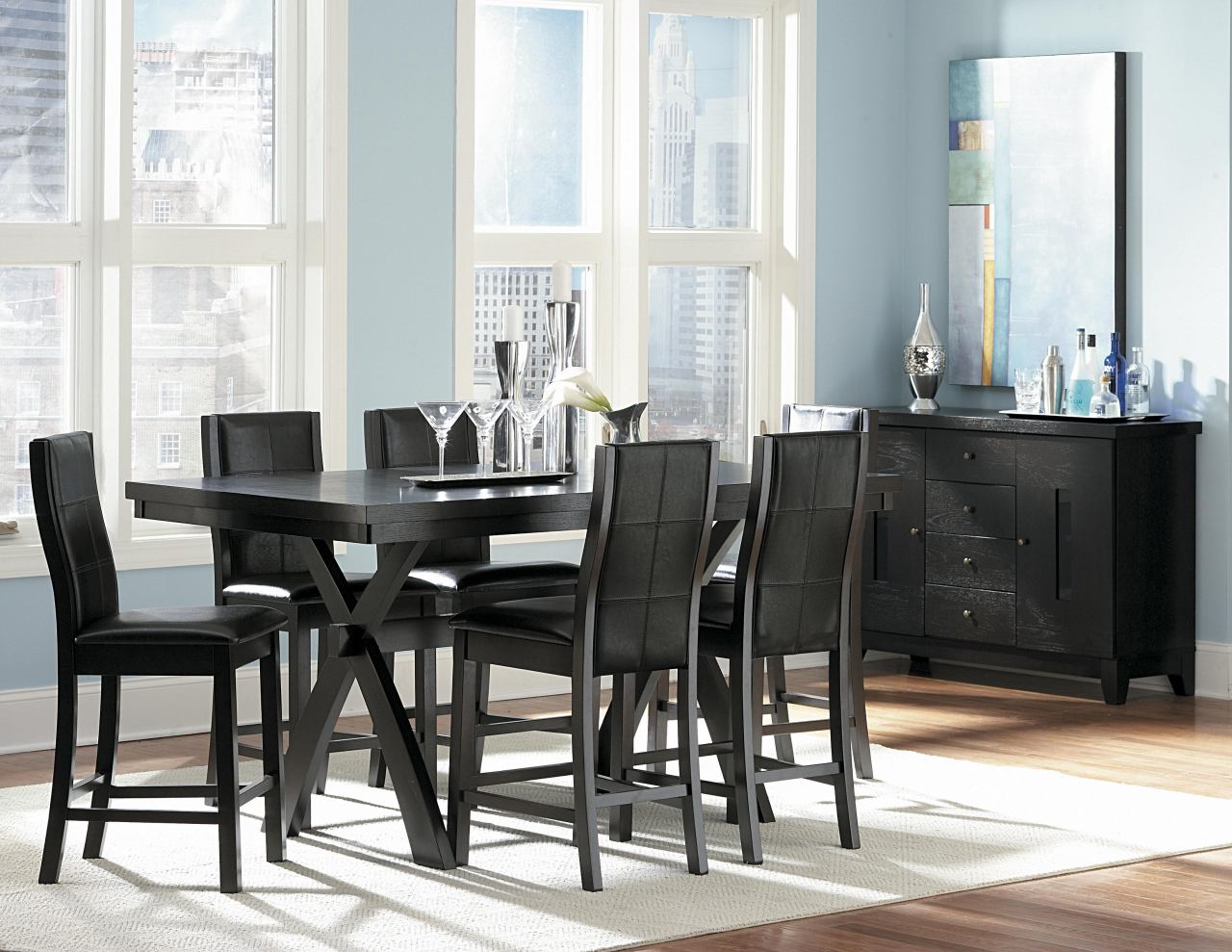 Homelegance Rigby 7pc Counter Height Table Set in Espresso