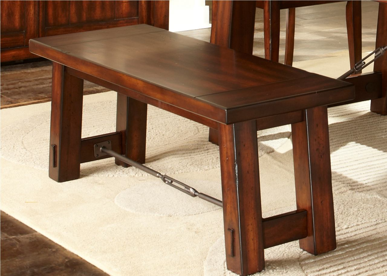 Liberty Furniture Tahoe Bench in Mahogany Stain 555-C9000B