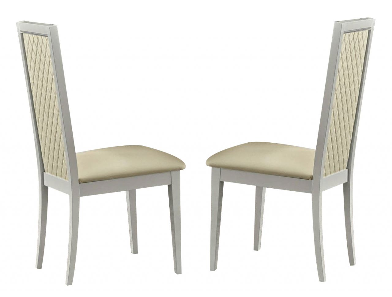 ESF Furniture Roma Side Chair in White (Set of 2)