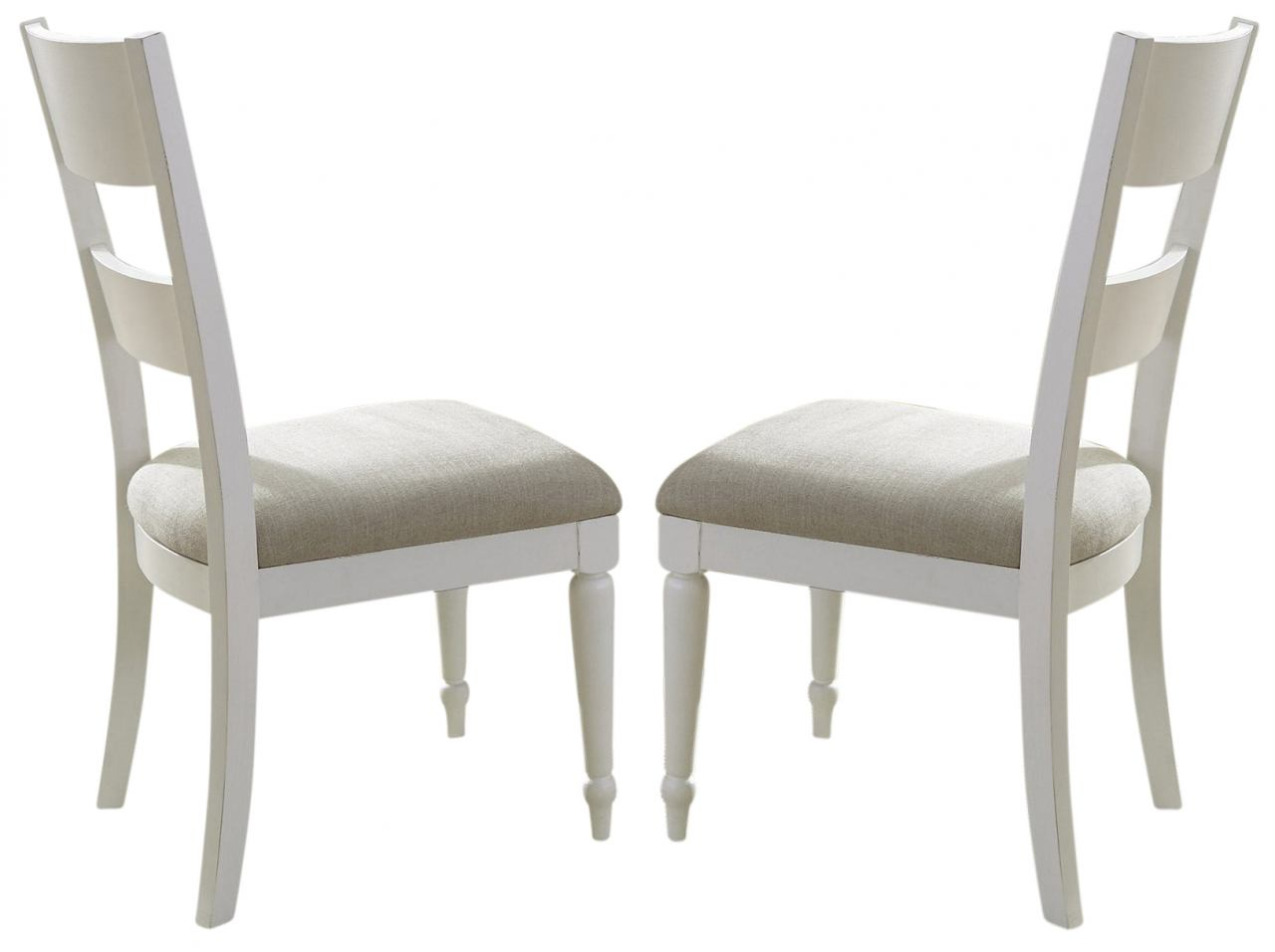 Liberty Furniture Harbor View II Slat Back Side Chair in Linen 631-C1501 (Set of 2)