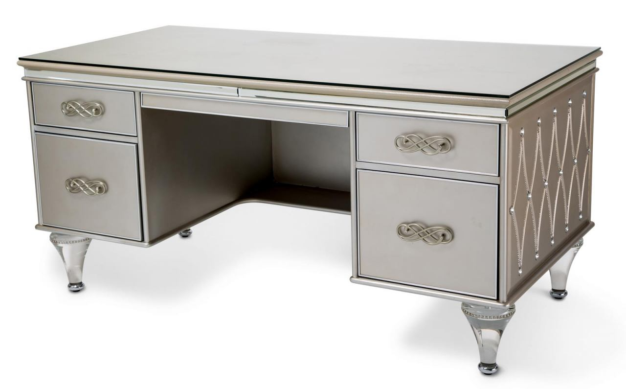 Aico Bel Air Park Desk in Champagne 9002207-201
