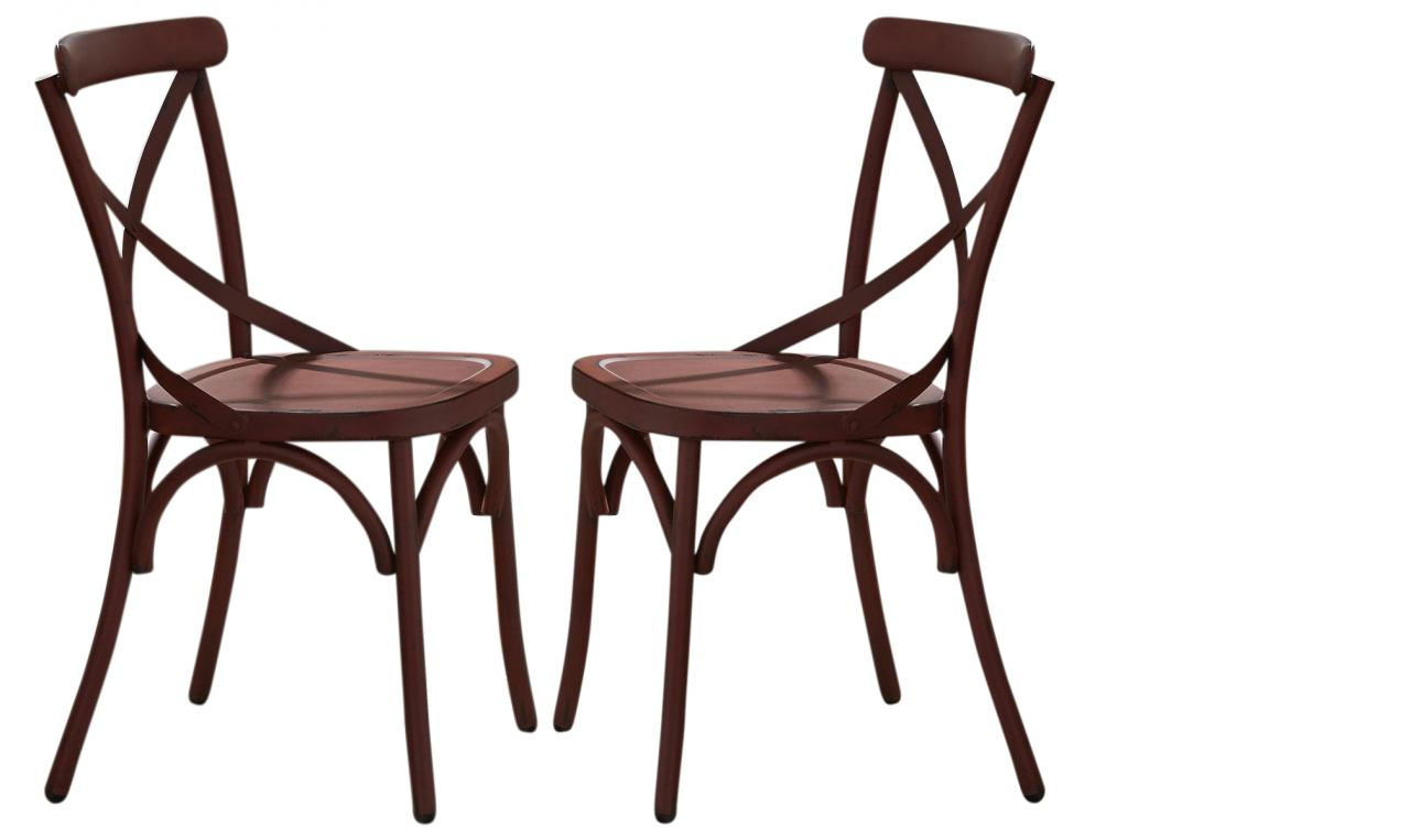 Liberty Furniture Vintage Dining Series X-Back Dining Side Chair in Red (Set of 2) 179-C3005-R