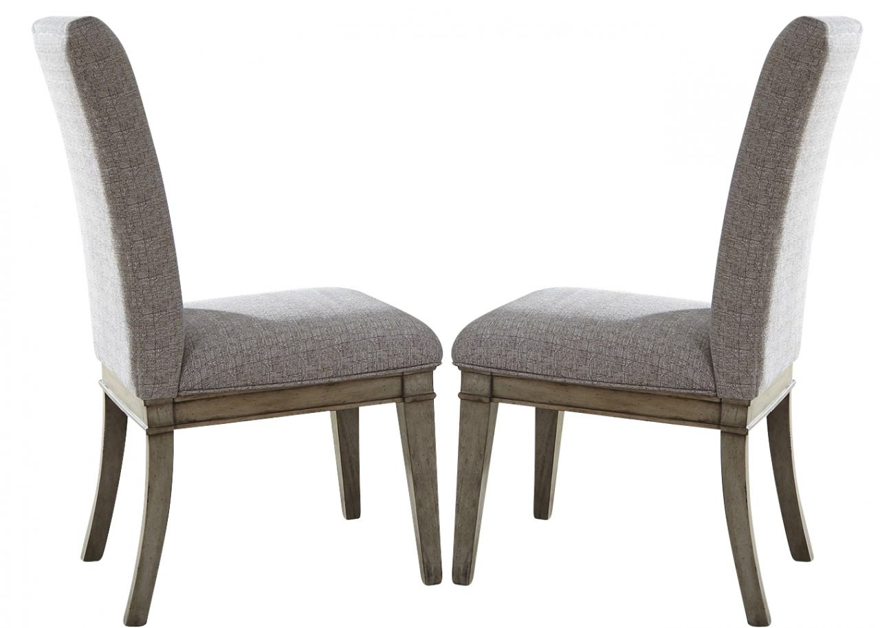 Liberty Furniture Grayton Grove Upholstered Side Chair in Driftwood (Set of 2) 573-C6501S