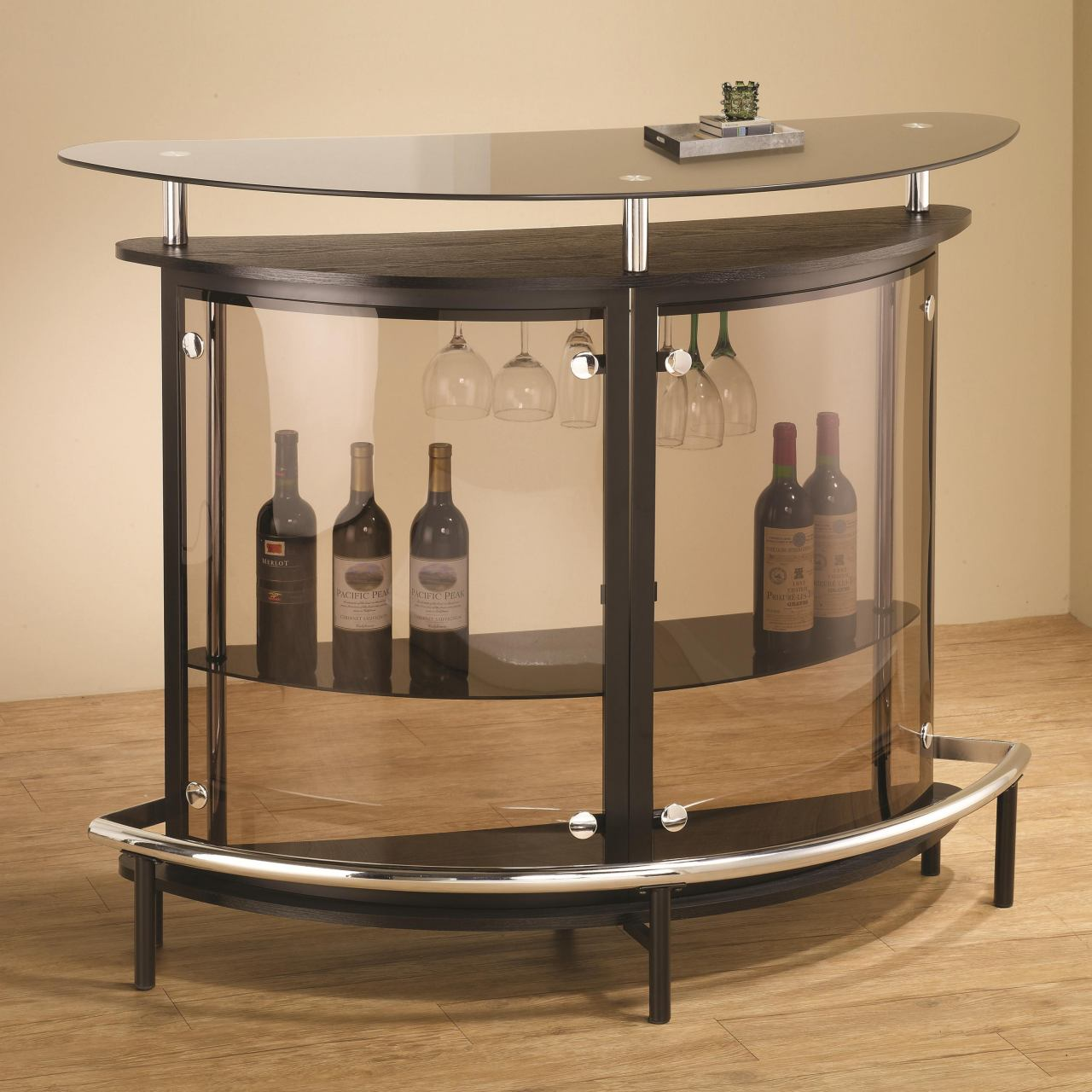 Coaster Bar Unit with Smoked Acrylic Front 101065