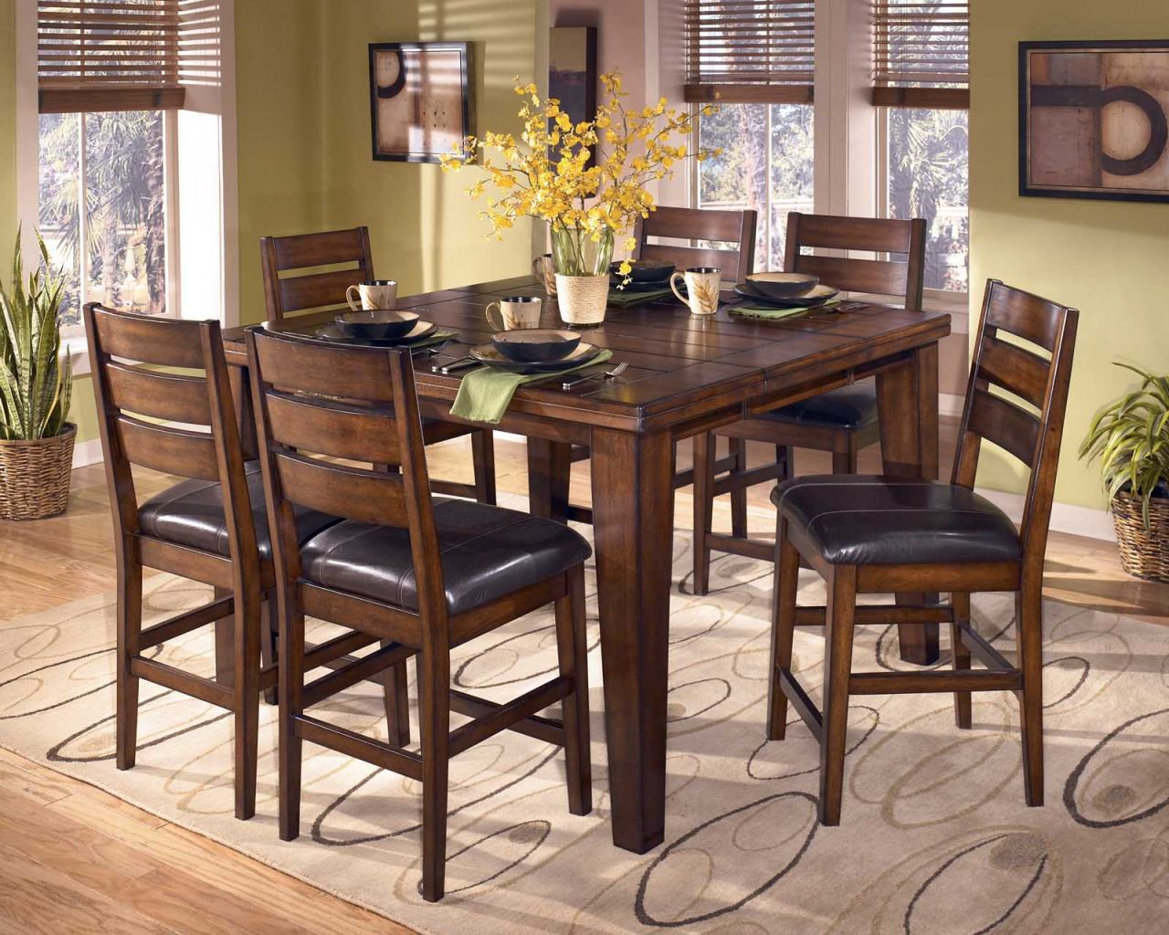 Larchmont 7-Piece Butterfly Leaf Counter Height Dining Set