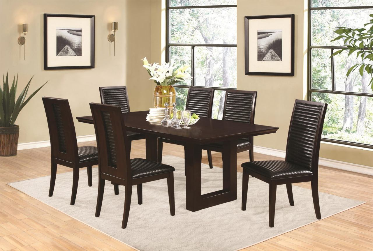 Coaster Chester 7-Piece Dining Room Set in Bitter Chocolate