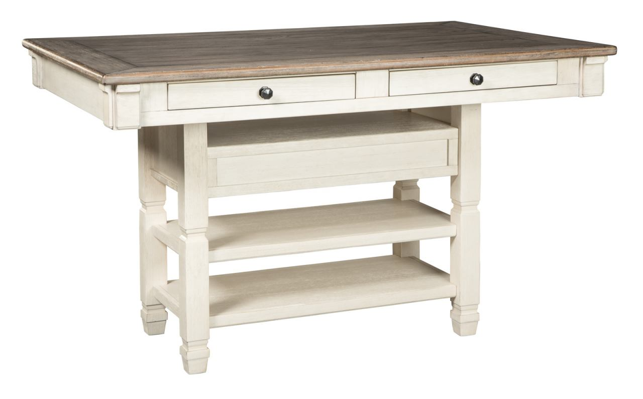 Bolanburg Rectangular Counter Table in White/Oak D647-32 SPECIAL