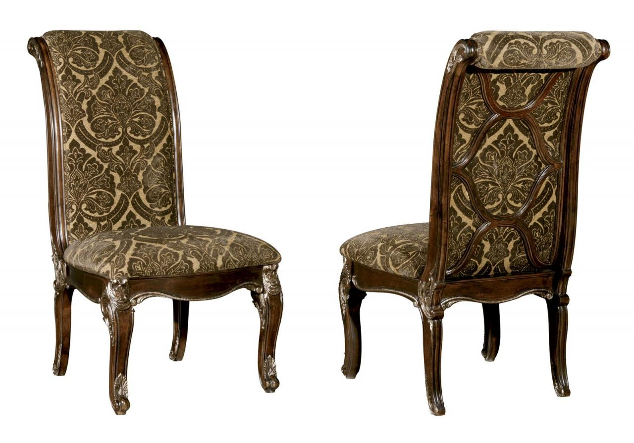 A.R.T Gables Upholstered Back Side Chair in Cherry (Set of 2) 245202-1707