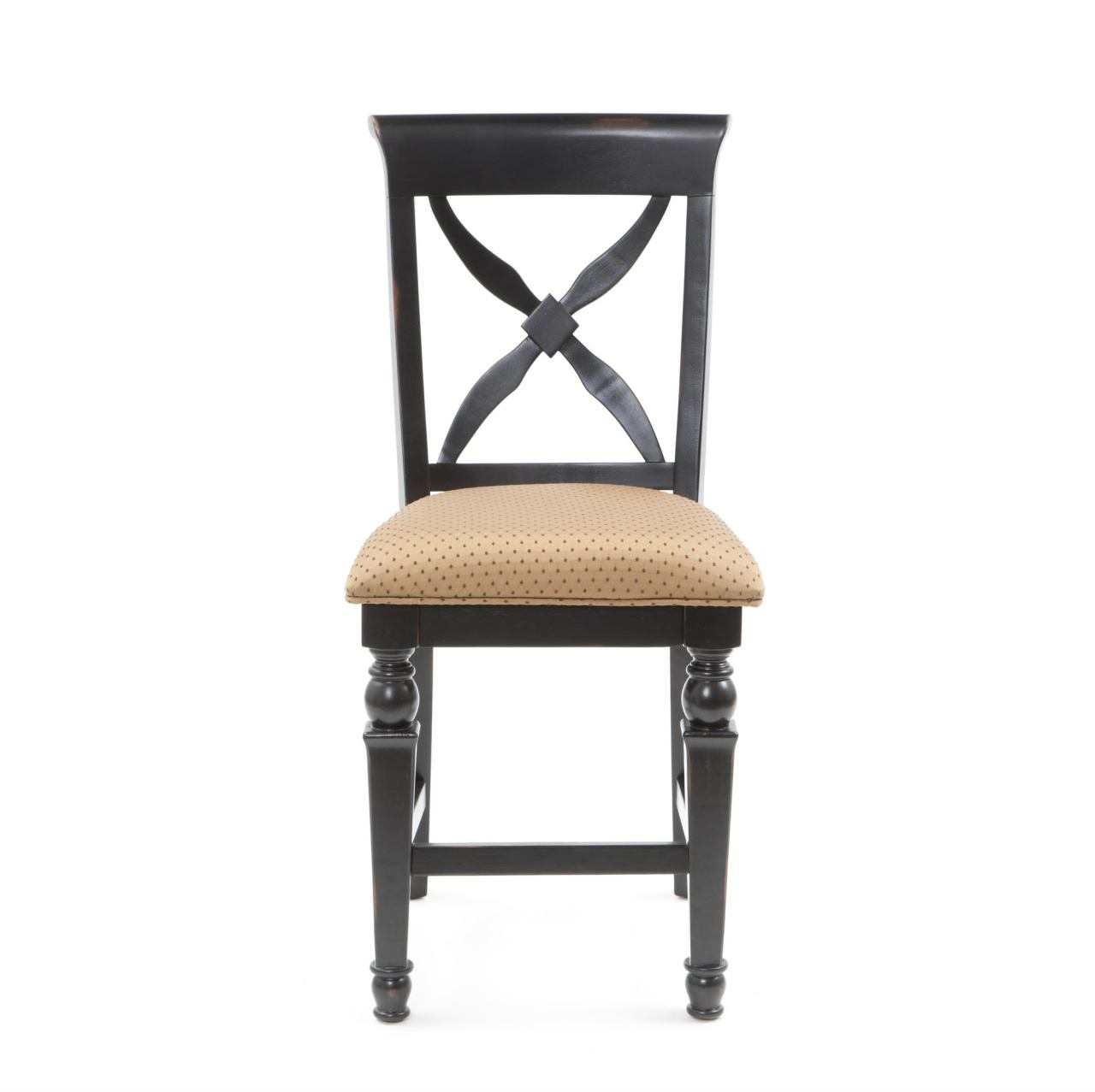 Hillsdale Northern Heights Non Swivel Counter Stool in Black/ Honey (Set of 2) 4439-822W