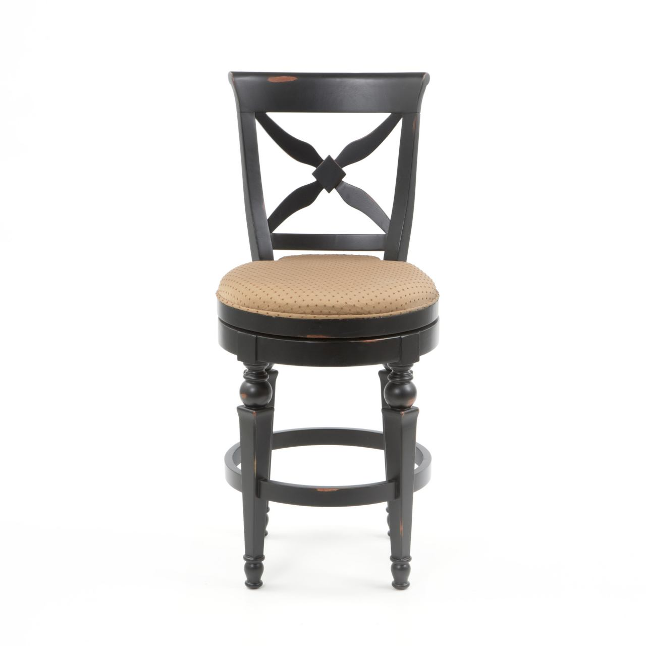 Hillsdale Northern Heights Swivel Bar Stool in Black/ Honey (Set of 2) 4439-830W