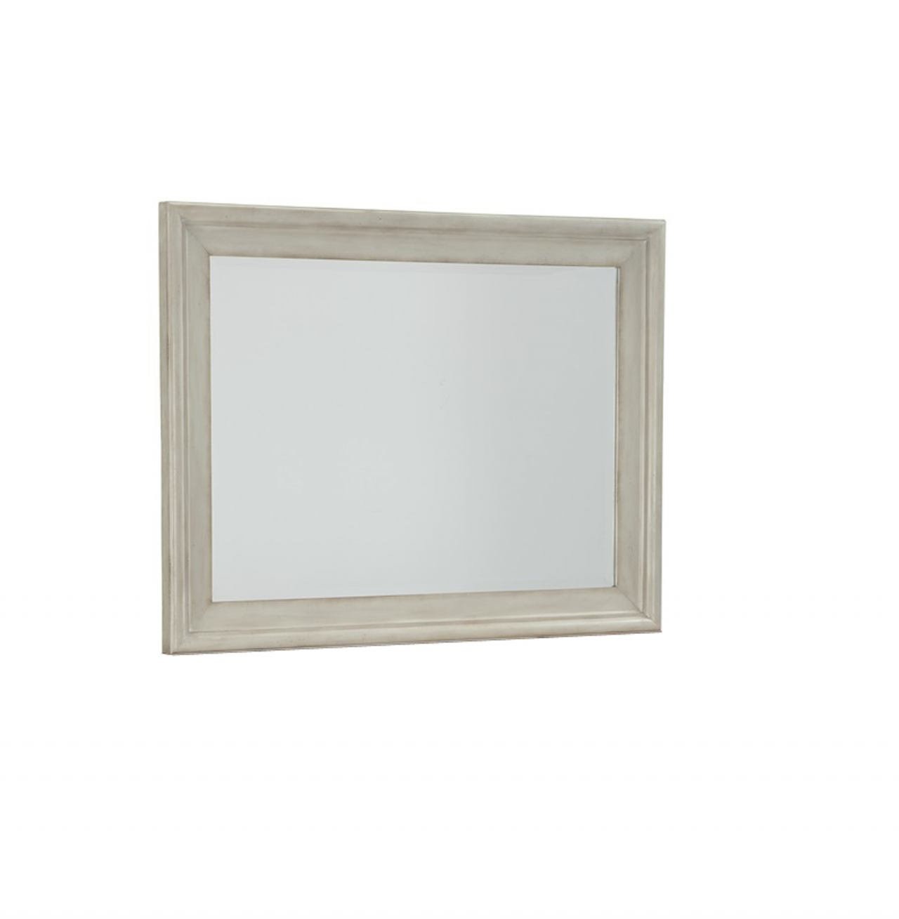 Cresent Fine Furniture Cottage Landscape Mirror in Antique White 201-102 CLEARANCE