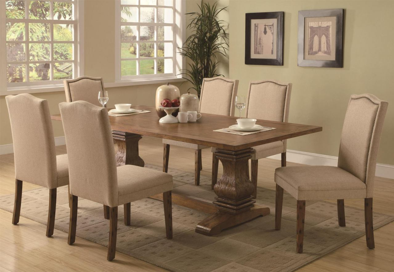 Coaster Parkins 5 Piece Dining Set w/ Parson Chair in Coffee