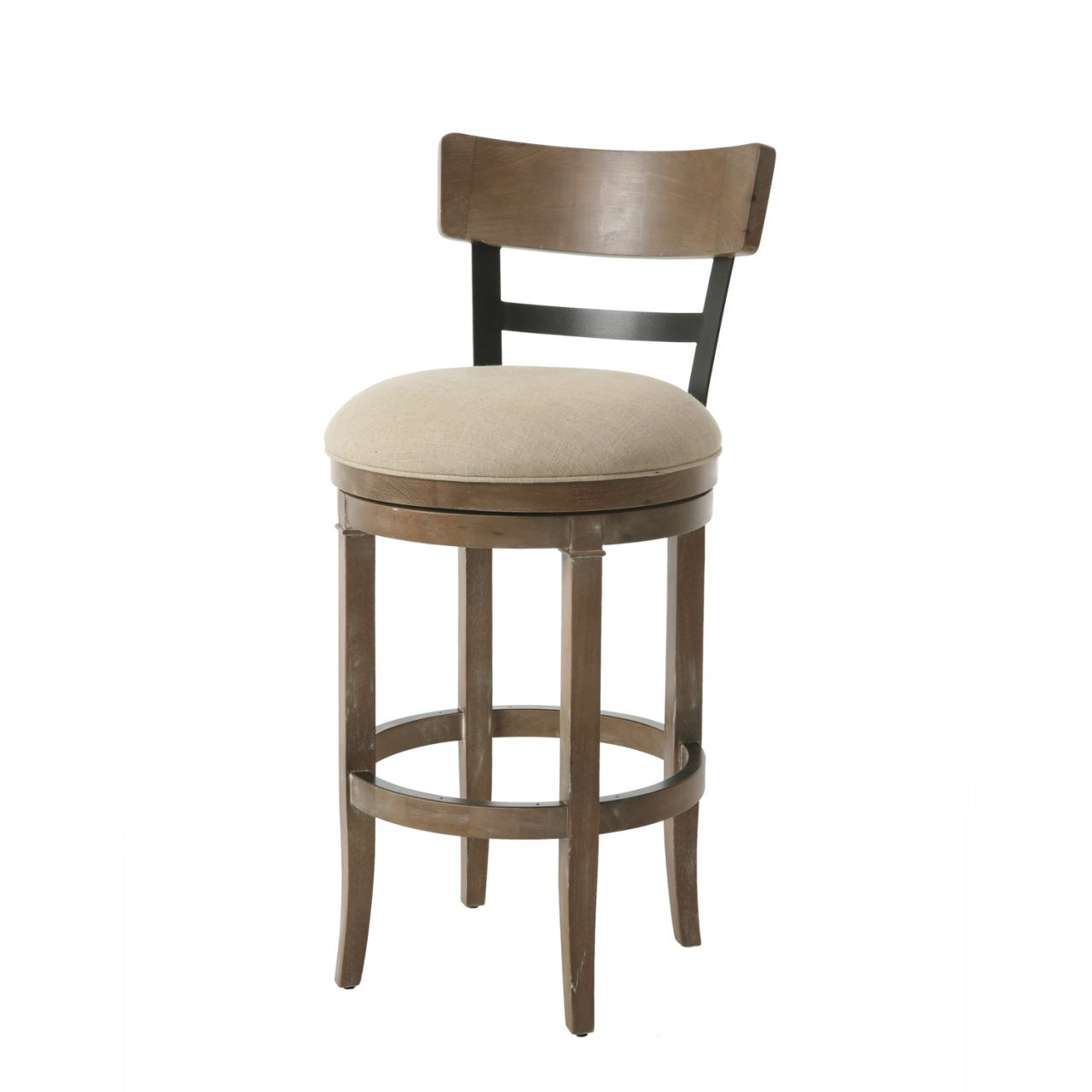 Pastel Furniture Susan Swivel Barstool in Distressed Charcoal SS-225-30-DM-DI-353 (Set Of 2)