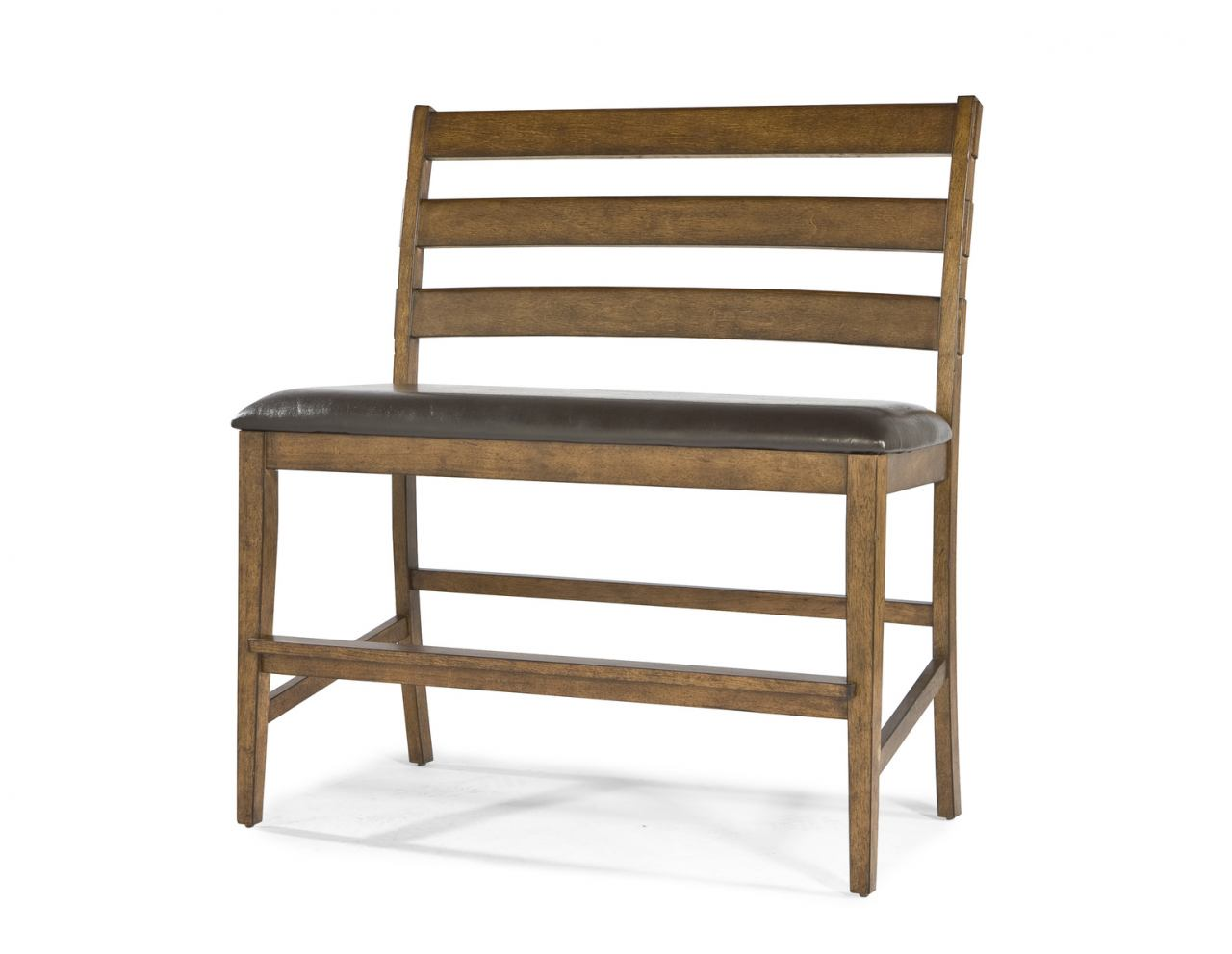 Intercon Furniture Santa Clara Ladder Back Bench in Brandy ST-BS-889CB-BDY-K24