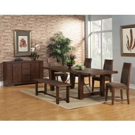 Alpine Furniture Pierre Server In Antique Cappuccino 8104 06 By Dining Rooms Outlet