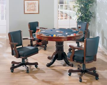 Coaster Mitchell 5pc Game Table Set in Dark Brown 100201S