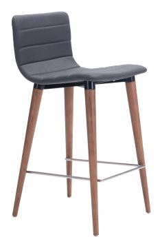 Zuo Modern Jericho Counter Chair in Gray 100272 (Set of 2)