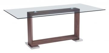 Zuo Modern Oasis Dining Table in Walnut 100288