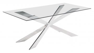 Zuo Modern Rize Dining Table in Chrome 100349