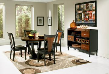Coaster Boyer 5pc Dining Set in Black & Cherry 102091S