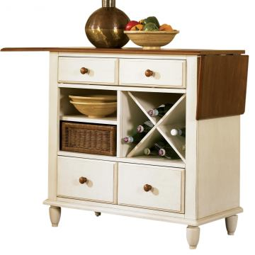 Liberty Furniture Low Country Server in Linen Sand with Suntan Bronze Finish 79-SR3636