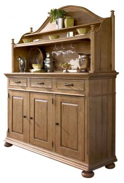 Universal Furniture Paula Deen Down Home Hostess Credenza & Hutch in Oatmeal 192675H