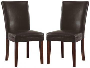 Coaster Parson Chair in Brown (Set of 2) 4077BRN